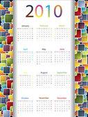 多彩 2010年日历 — 图库矢量图片