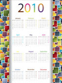 Colorful 2010 calendar — Stock Vector