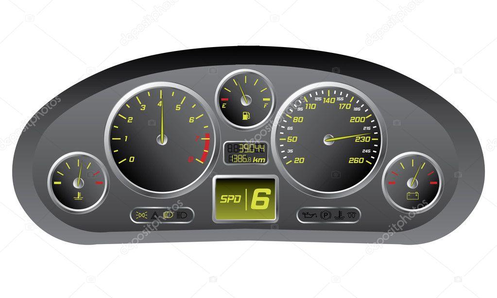 Sports Car Dashboard With