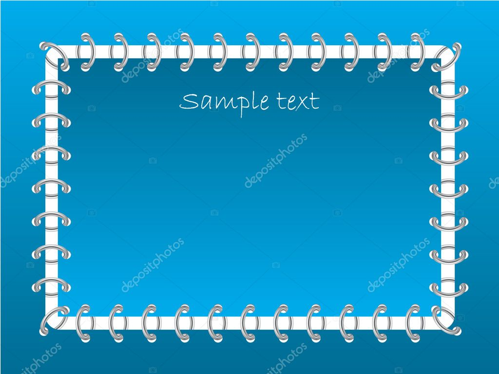 Chained card in blue color  Stock Vector #2701670
