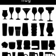 Glass & Mug Icons — Stock Vector