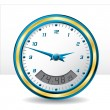 Royalty-Free Stock Vector Image: Analog and digital wall clock