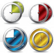 Various timers — Stock Vector