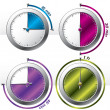 Various new timers — Stock Vector