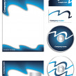 Dark blue company vector set - Stock Vector