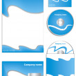 Cool blue company vector set - Stock Vector