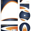 Stock Vector: Blue & Orange Company vector set