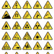 Vector warning signs — Stock Vector