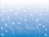 Blue christmas card with flakes — Stock Vector