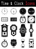 Clock silhouette — Vector de stock