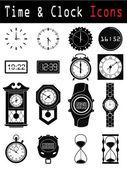 時計のシルエット — ストックベクタ