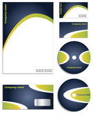 Stylish new corporate vector set — Stock Vector