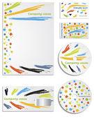 Colored company vector set — Stock Vector
