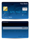 Blue credit card — Stock Vector