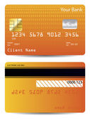 Textured credit card design — 图库矢量图片