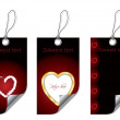 Heart labels - Stock Vector