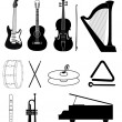 Music Instruments - Stock Vector