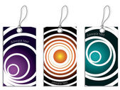 Labels with cool circles 2 — Stock Vector