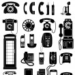 Phone Icons — Vector de stock #2769198