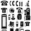 Stok Vektör: Phone Icons