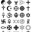Religion symbols — Stockvectorbeeld
