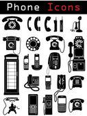 телефон иконки — Cтоковый вектор
