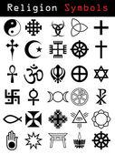 Símbolos de la religión — Vector de stock