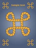 Rope design — Vector de stock