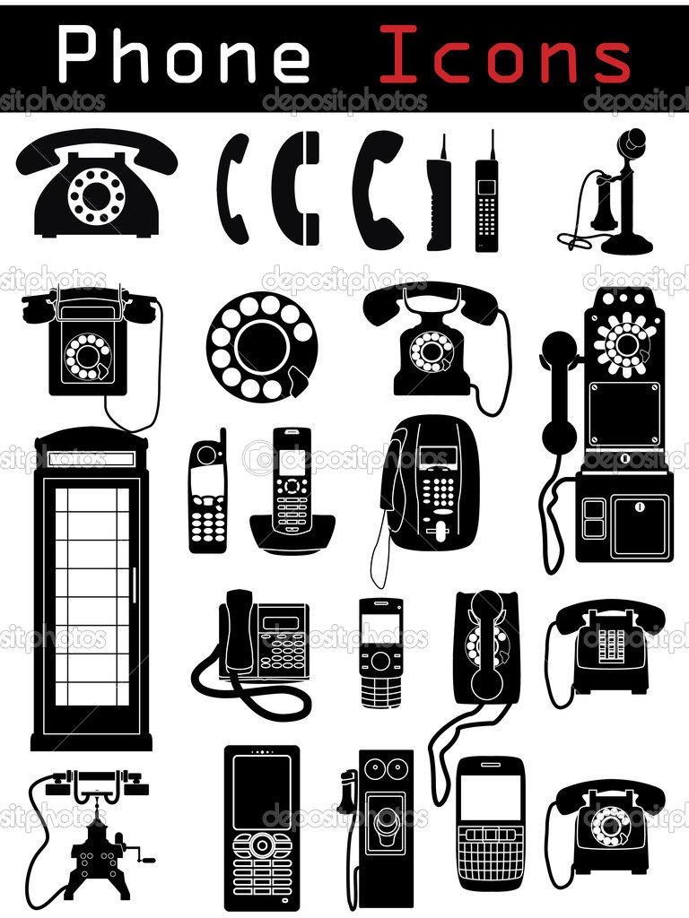 Phone Icon silhouettes — Stock Vector #2769198