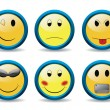New set of smileys — Stock Vector