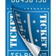 Royalty-Free Stock Vector Image: Blue ticket to be torn