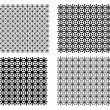 B&amp;W textures set 2 - Stock Vector
