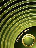 Green ripple — Stock Vector