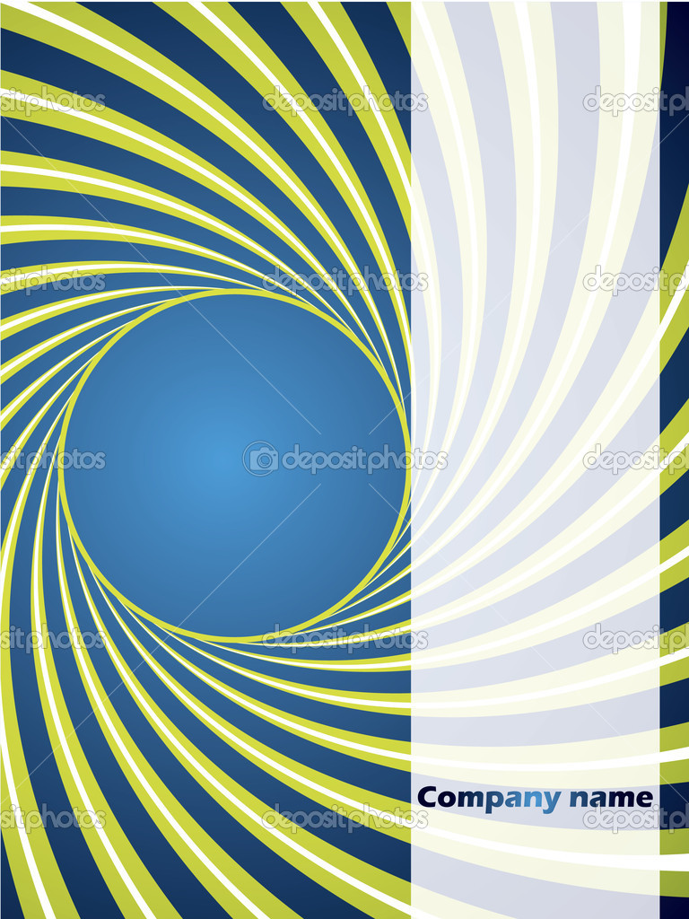 Twirling background in green and blue  Stock Vector #2780817