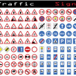 Royalty-Free Stock ベクターイメージ: Traffic sign collection
