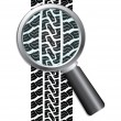 Close-up of tire — Stock Vector