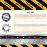 Construction web template — Stock Vector #2886142