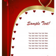 Valentine card — Stockvectorbeeld