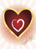 Valentine heart 2 — Stock Vector