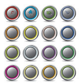 Customizable web buttons — Stock Vector