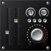 Hi-fi boutons avec led — Vecteur
