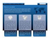 Stylish blue website design — Stock Vector