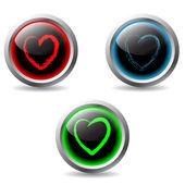 Валентина кнопки 2 — Cтоковый вектор
