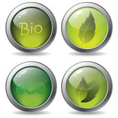 Bio buttons — Stockvector