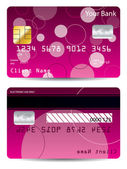 Pink credit card — Stock Vector