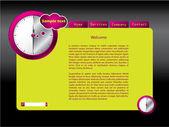 Saat hızına Web sitesi şablonu — Stok Vektör