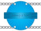 Chained blue ray card — Stock Vector