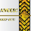 Grunge danger background sign - 图库矢量图片