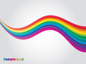 Rainbow våg — Stockvektor