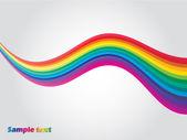 Rainbow wave — Stockvektor
